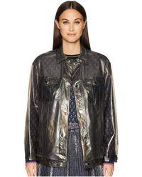 RED Valentino - Polyurethane Bomber Raincoat (smoke) Women's Coat - Lyst