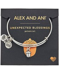 ALEX AND ANI - Path Of Symbols - Unexpected Blessings Ii Bangle (rafaelian Silver) Bracelet - Lyst
