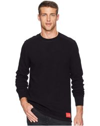 Calvin Klein - Long Sleeve Waffle Crew Neck Shirt (black) Men's Clothing - Lyst