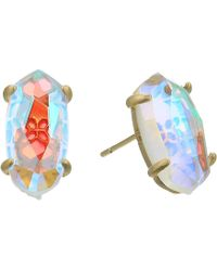 Kendra Scott - Betty Earrings (rose Gold Dichroic Glass) Earring - Lyst