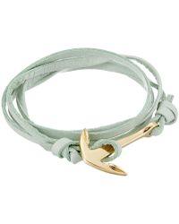 Miansai - Leather Anchor Bracelet (mint) Bracelet - Lyst