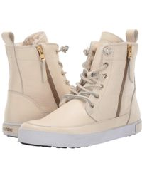 Blackstone - High-top Zip Boot (white) Women's Boots - Lyst