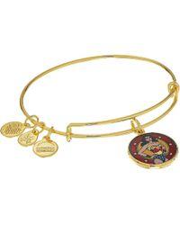 ALEX AND ANI - Wonder Woman Bangle (shiny Gold) Bracelet - Lyst