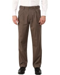Dockers - Comfort Khaki Stretch Relaxed Fit Pleated (black Metal) Men's Casual Pants - Lyst