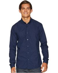 Scotch & Soda - Ams Blauw Slim Fit Simple Lightweight Printed Shirt (combo H) Men's T Shirt - Lyst