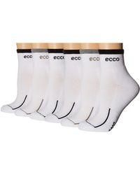 Ecco - Anklet Cushion Socks W/ Tipping Logo - 6 Pack (black/gray) Women's Crew Cut Socks Shoes - Lyst