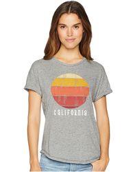 The Original Retro Brand - California Mock Twist Rolled Short Sleeve Tee (mock Twist Heather Grey) Women's T Shirt - Lyst