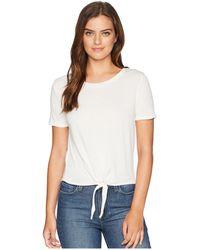 Alternative Apparel - High-waisted Tie Tee (eco Ivory) Women's T Shirt - Lyst