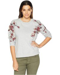 Two By Vince Camuto - French Terry Embroidered Sweatshirt (grey Heather) Women's Sweatshirt - Lyst