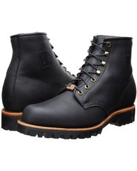 Chippewa - Classic 6 Lace Up (black Odessa) Men's Work Lace-up Boots - Lyst