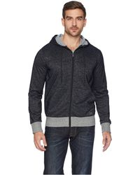 2xist - 2(x)ist Athleisure - Flecked Sport Asymmetrical Hooded Sweatshirt (speckled Black) Men's Sweatshirt - Lyst