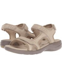 8c5a635fcfed Lyst - Tory Burch Thora Tumbled Leather Thong Sandals in Brown