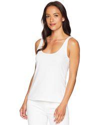 9589379cac161 Vince Camuto - Sleeveless Knit Tank (ultra White) Women s Sleeveless - Lyst