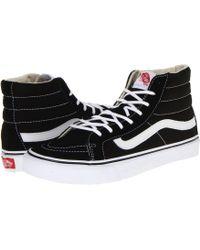 bd30a0f1df Vans - Comfycush Sk8-hi ((classic) Black true White) Athletic