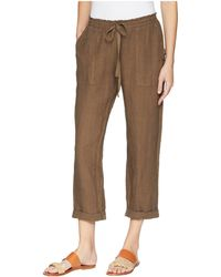 Three Dots - Callie Rolled Linen Pant (tumbleweed) Women's Casual Pants - Lyst