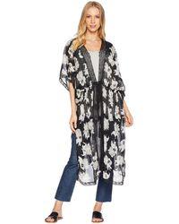 Michael Stars - Floral Robe (black) Women's Robe - Lyst
