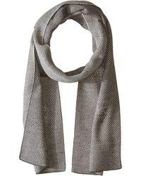 MICHAEL Michael Kors - Twill Studded Muffler With 8 Logo Burst (black/derby/silver) Scarves - Lyst
