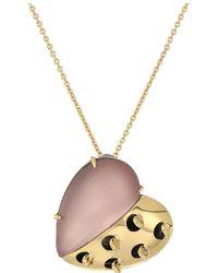 Alexis Bittar - Petite Grater Heart Pendant Necklace (rose Grey) Necklace - Lyst