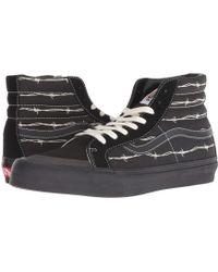 Vans - Sk8-hi 138 Decon Sf ((barbed Wire) Black) Men's Skate Shoes - Lyst