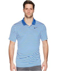 bd0d81e2 Nike Dri-fittm Mini-stripe Victory Polo (game Royal/white/black ...