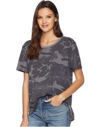 Free People - Army Tee (dark Grey) Women's T Shirt - Lyst