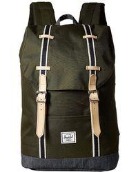 Herschel Supply Co. - Retreat Mid-volume (forest Night/dark Denim) Backpack Bags - Lyst