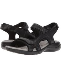 Clarks - Saylie Jade (black Tumbled Leather) Women's Sandals - Lyst