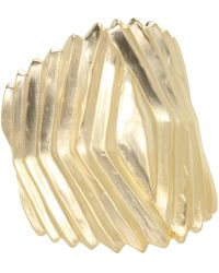 Kenneth Jay Lane - 1554bsg (satin Gold) Bracelet - Lyst