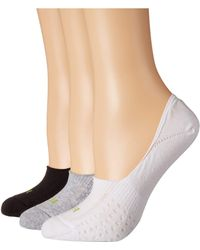 Hue - Air Cushion No Show Liner Socks 3-pair Pack (light Charcoal Heather) Women's No Show Socks Shoes - Lyst