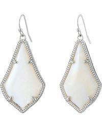 Kendra Scott - Alex Earring (gold White Mother-of-pearl) Earring - Lyst