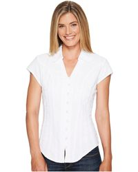 Scully - Cantina Celia Cap Sleeve Top (white) Women's Blouse - Lyst