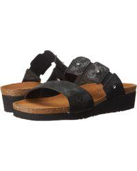 ece60324cf62 Naot - Ashley (black Madras Leather) Women s Sandals - Lyst