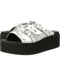 McQ - Dusk Eyelet Slide (bianco) Women's Slide Shoes - Lyst