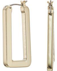 Lauren by Ralph Lauren - Link Hoop Earrings (silver) Earring - Lyst