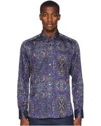 Etro - New Warrant Printed Shirt (blue) Men's Clothing - Lyst