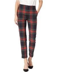 83824f936a2 Lauren by Ralph Lauren - Tartan Skinny Crop Pants (black red Multi) Women s