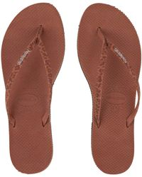 Havaianas - You Animals Flip-flops (rust) Women's Sandals - Lyst