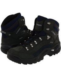 Lowa - Renegade Gtx(r) Mid (dark Grey/navy) Men's Hiking Boots - Lyst