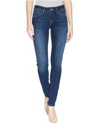 Mavi Jeans - Alexa Mid-rise Skinny In Dark Supersoft (dark Supersoft) Women's Jeans - Lyst