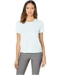 2696d6a5e7bb5 Nike - Miler Top Short Sleeve (teal Tint reflective Silver) Women s Clothing  -