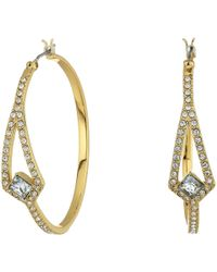 Vince Camuto - Crystal Pave Hoop Earrings (gold) Earring - Lyst