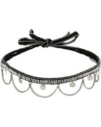 Chan Luu   Hanging Coins And Chains Choker Necklace   Lyst