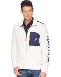Nautica - Sherpa Full Zip Knit Active (marshmallow) Men's Clothing - Lyst