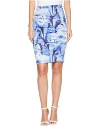 Nicole Miller - Sandy Skirt (blue Multi) Women's Skirt - Lyst