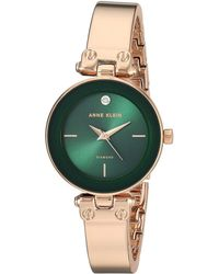 Anne Klein - Ak-3236gnrg (green/rose Gold-tone) Watches - Lyst