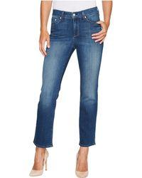 NYDJ - Marilyn Straight Ankle Jeans In Crosshatch Denim In Anson (anson) Women's Jeans - Lyst