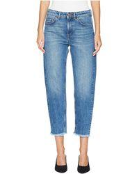 ESCADA - J836 Tapered Raw Edge Jeans (medium Blue) Women's Jeans - Lyst