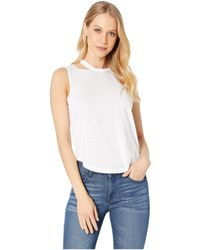 cefd978e9d3 Chaser - Vintage Jersey Shirttail Muscle Top (white) Women s Clothing - Lyst