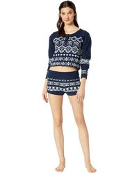 Free People - Cabin Day Set (navy) Women's Pajama Sets - Lyst