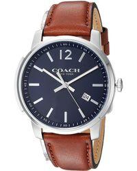 COACH - Bleecker Slim Leather (matte Navy) Watches - Lyst
